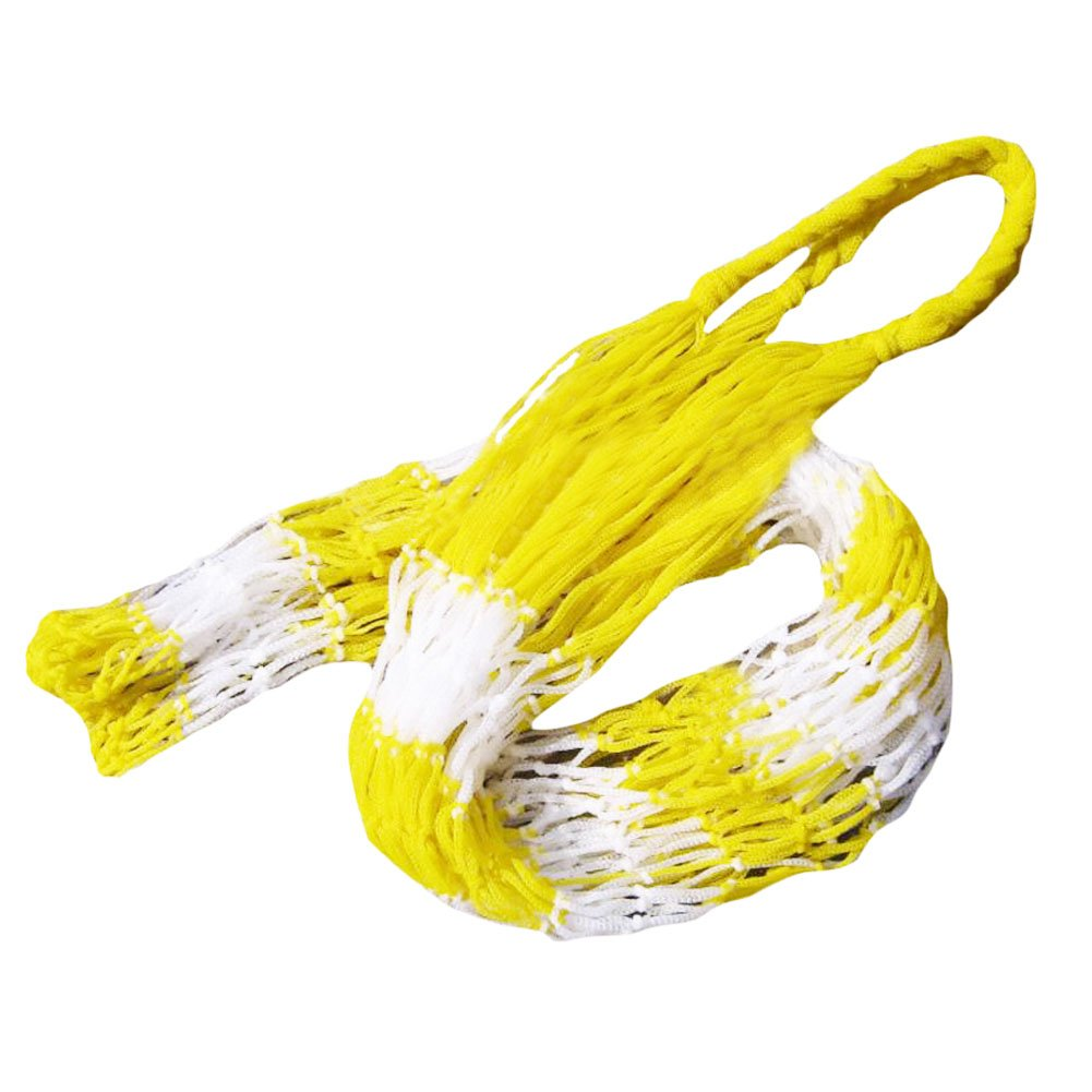 George Jimmy Yellow White Basketball Football Carry Net Mesh Bag Large Capacity