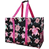 Sea-Turtle-Print-NGIL-Mega-Shopping-Utility-Tote-Bag