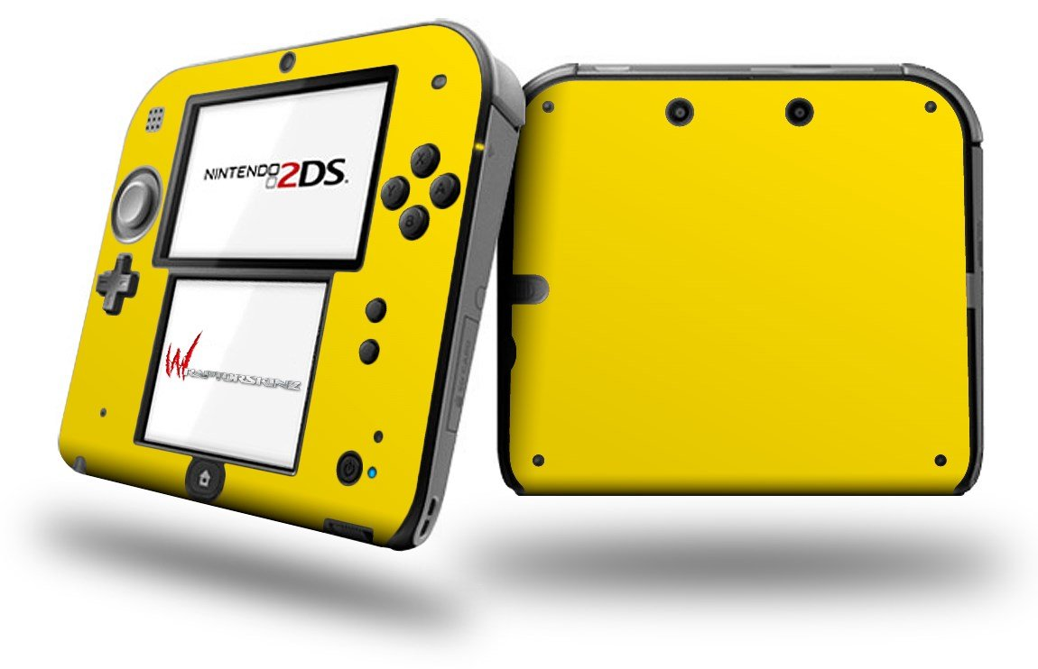 Solids Collection Yellow - Decal Style Vinyl Skin fits Nintendo 2DS - 2DS NOT INCLUDED (OEM Packaging)