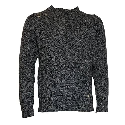 Cheap Diesel Mens Pullover K-Verdenew Alpaca Grey Flecked used Look