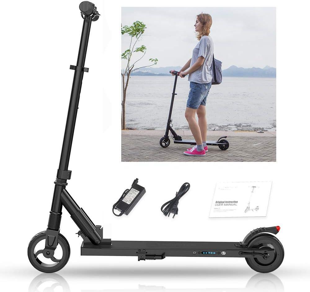 Magic Vida - Monopattino elettrico pieghevole, unisex, per adulti, bambini, propulsione posteriore 7,5 kg, molto leggero, batteria da 5,0 Ah, velocità massima 23 km/h, versione migliorata