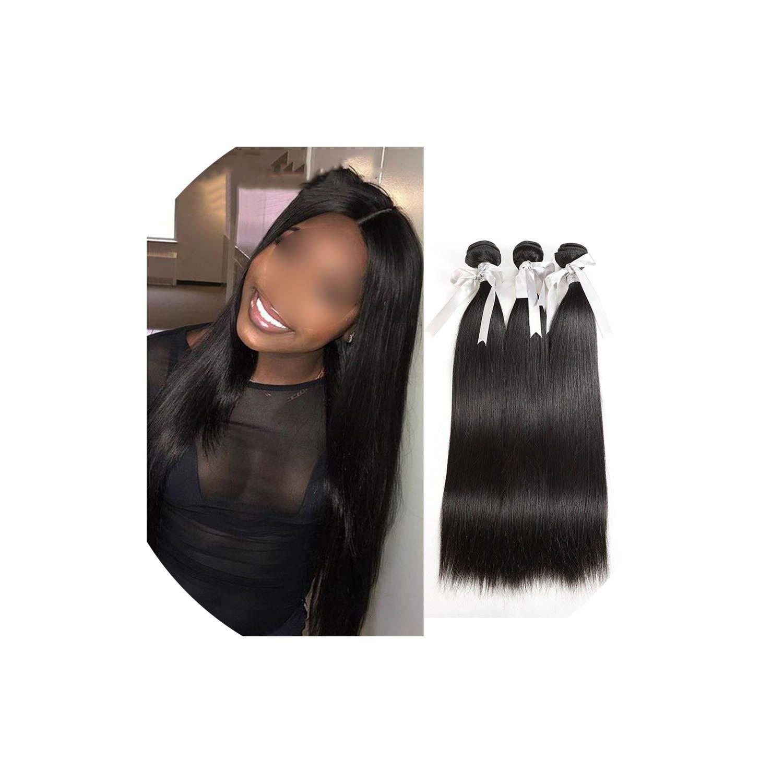 Hair Weave Bundles 1/3/4 Bundles Straight Human Hair Bundles 8 To 30 Inch Hair Extensions,12 12 14 14 by H-yang hair extensions