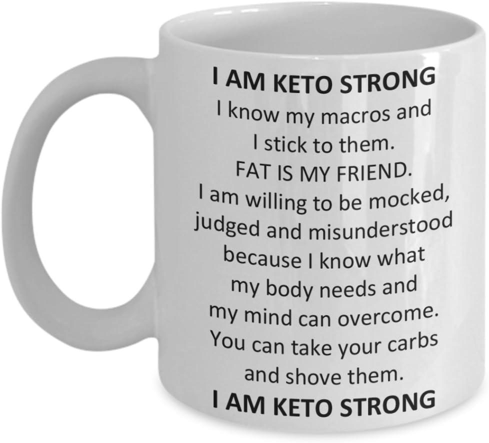 Amazon Com Keto Diet Coffee Mug I Am Keto Strong Inspiration For Ketogenic Diet Kitchen Dining