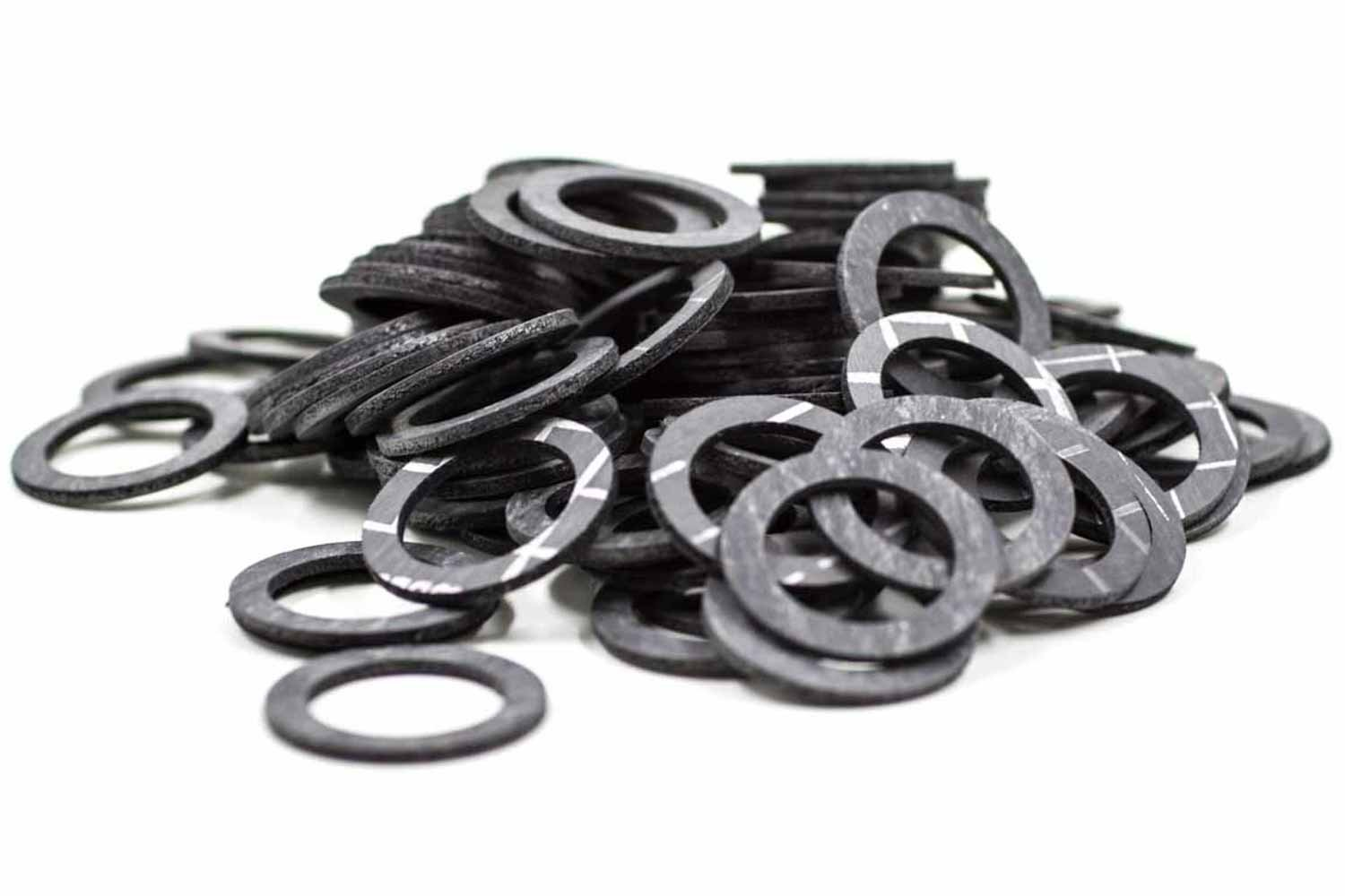 Flat Gasket Type 370 Based on Kevlar/® 24 x 18 x 2 mm up to 370 /°C Aramid Fiber 100 Pieces 3//4 Normal