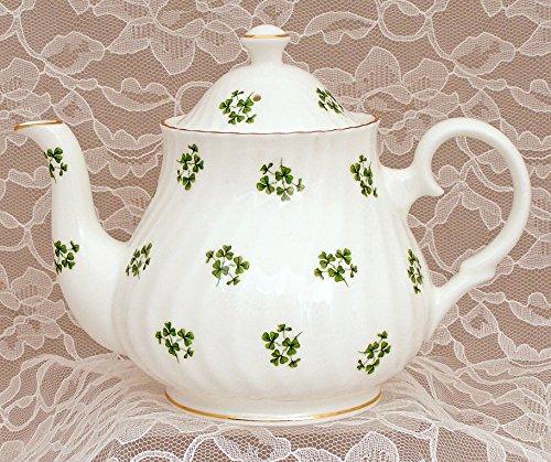 SHAMROCK 6 cup Teapot - Fine English bone china