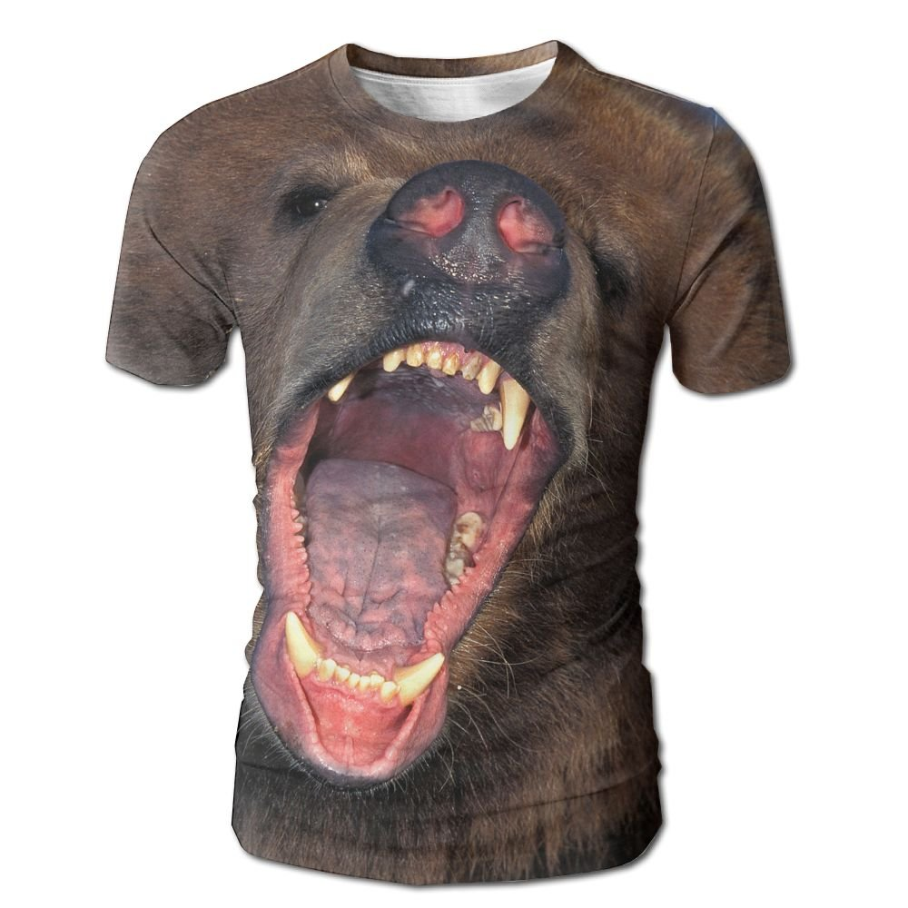 XIA WUEY Blusterous Bear Men'sCute Baseball Tshirt Graphic Tees Tops For Gym
