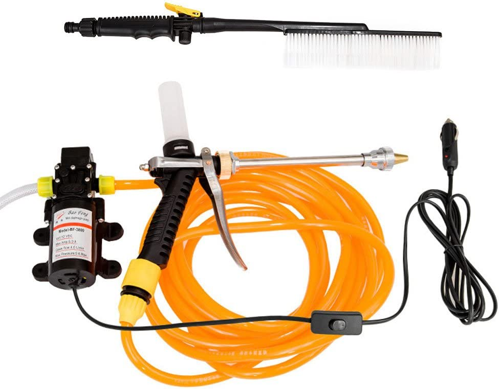 Realm 2000 PSI 1.75 GPM Electric Pressure Washer with Spray Gun, Adjustable Nozzle, Detergent Bottle, 13 Amp, Yellow Black