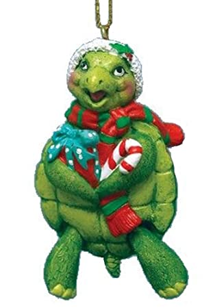 Amazon.com: Turtle Christmas Ornament w/ Santa Hat & Hinged Legs ...