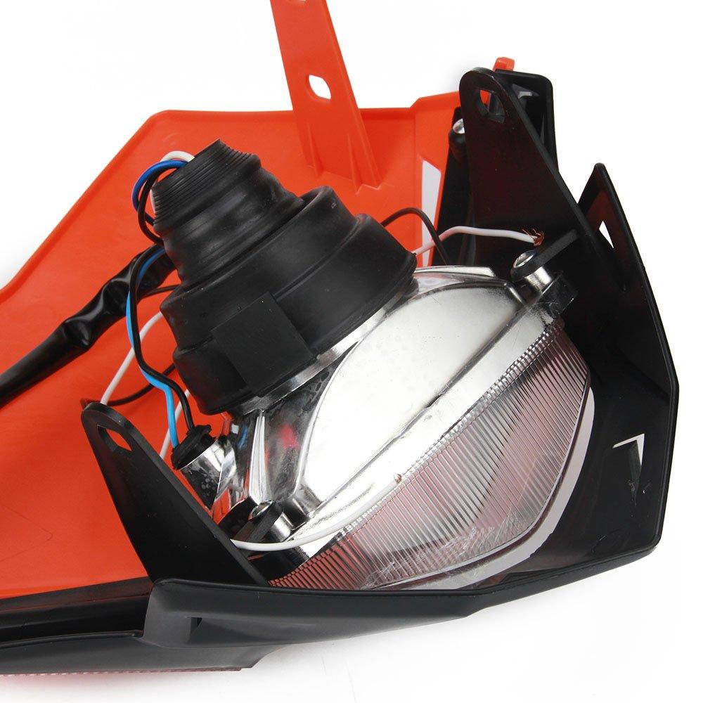 Blue Universal Headlight Head Lamp Light Fairing Street Fighter Mask Day Running Light Turn Signal Lights For Yamaha YZ125 YZ250 YZ250F YZ450F WR250F WR450F