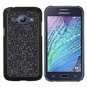 Stuss Case / Funda Carcasa protectora - Negro Maravilla Scatter Estrellas Paint - Samsung Galaxy J1 J100