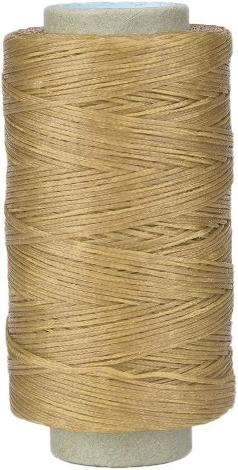 Cordón de hilo de coser de cuero encerado 250 metros Kit de herramientas de bricolaje artesanal de cuero 150D para coser a mano y a máquina(#2): Amazon.es: Hogar