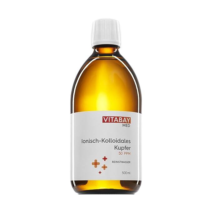 Cobre coloidal 50 PPM - altamente concentrado (nivel de pureza 99,99%) (500 ml)