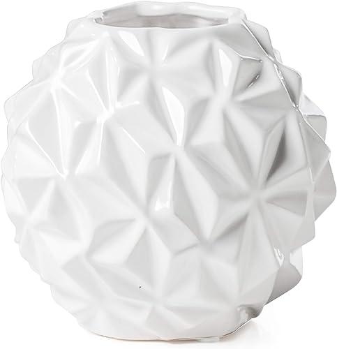 Torre Tagus Crumple Ball Vase, Small, White