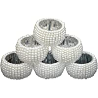 Indian Accent Table Decoration Beaded Napkin Rings (Set of 6)