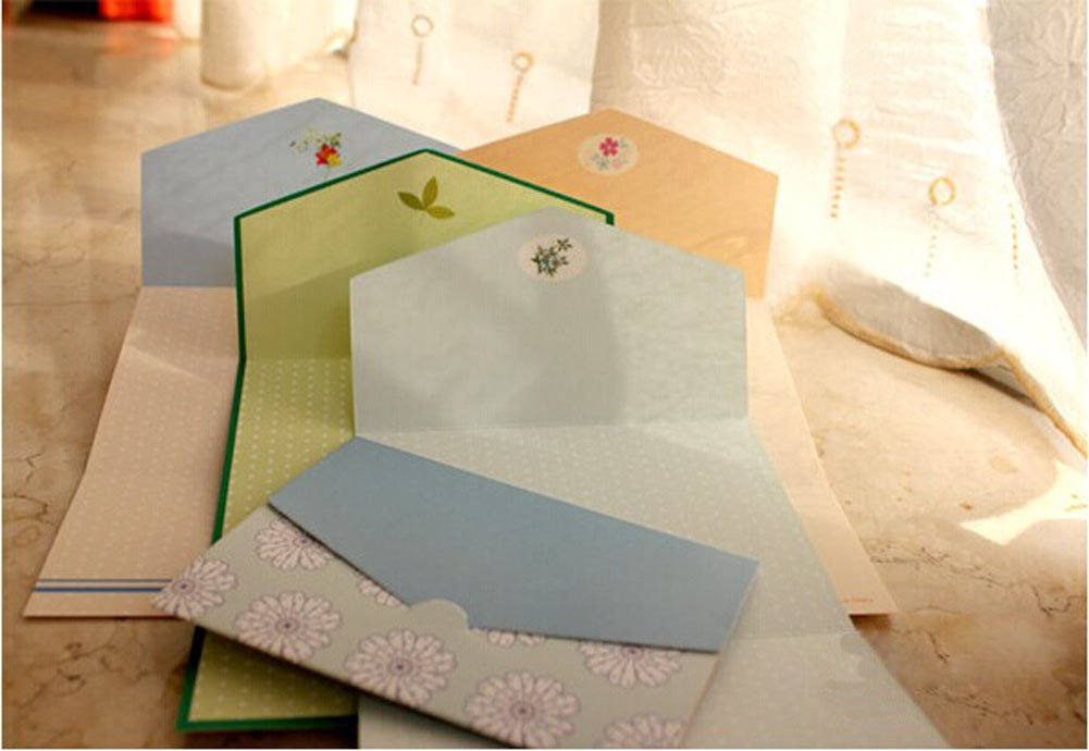Lovely Folding Series, All Occasion Mini Greeting Cards/Set Of 4/24 Piece PANDA SUPERSTORE