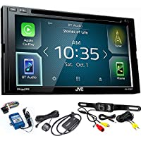 JVC KW-V830BT Android Auto / Apple CarPlay CD/DVD with SiriusXM Tuner, Back Up Camera, Steering Wheel Control Interface