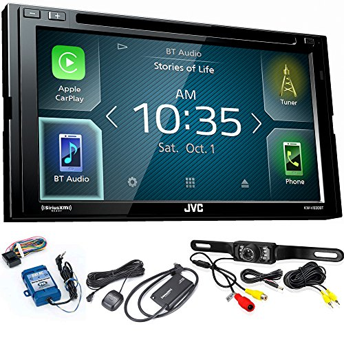 JVC KW-V830BT Android Auto / Apple CarPlay CD/DVD with SiriusXM Tuner, Back Up Camera, Steering Wheel Control ()