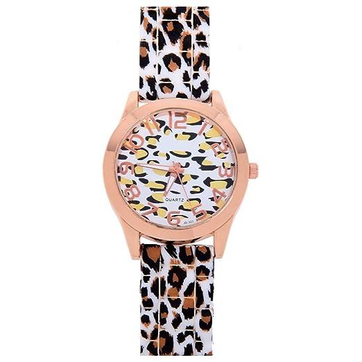 Reloj de mujer - GENEVA Informal Reloj de pulsera de cuarzo de silicona de jalea de