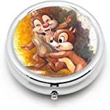 DISNEY COLLECTION Pill Case Chip and Dale Comics Cute Waterproof Daily Medicine Personal Portable Travel Delicate Pill Box Pill Organizer