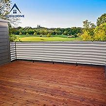 Alion Home© Elegant Privacy Screen Mesh for Backyard, Deck, Patio, Balcony, Pool, Fence. Grey/White (30''x 16')