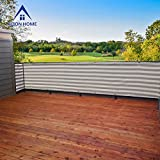 Alion Home Elegant Privacy Screen Mesh for Backyard, Deck, Patio, Balcony, Pool, Fence. Grey/White (30''x 49')