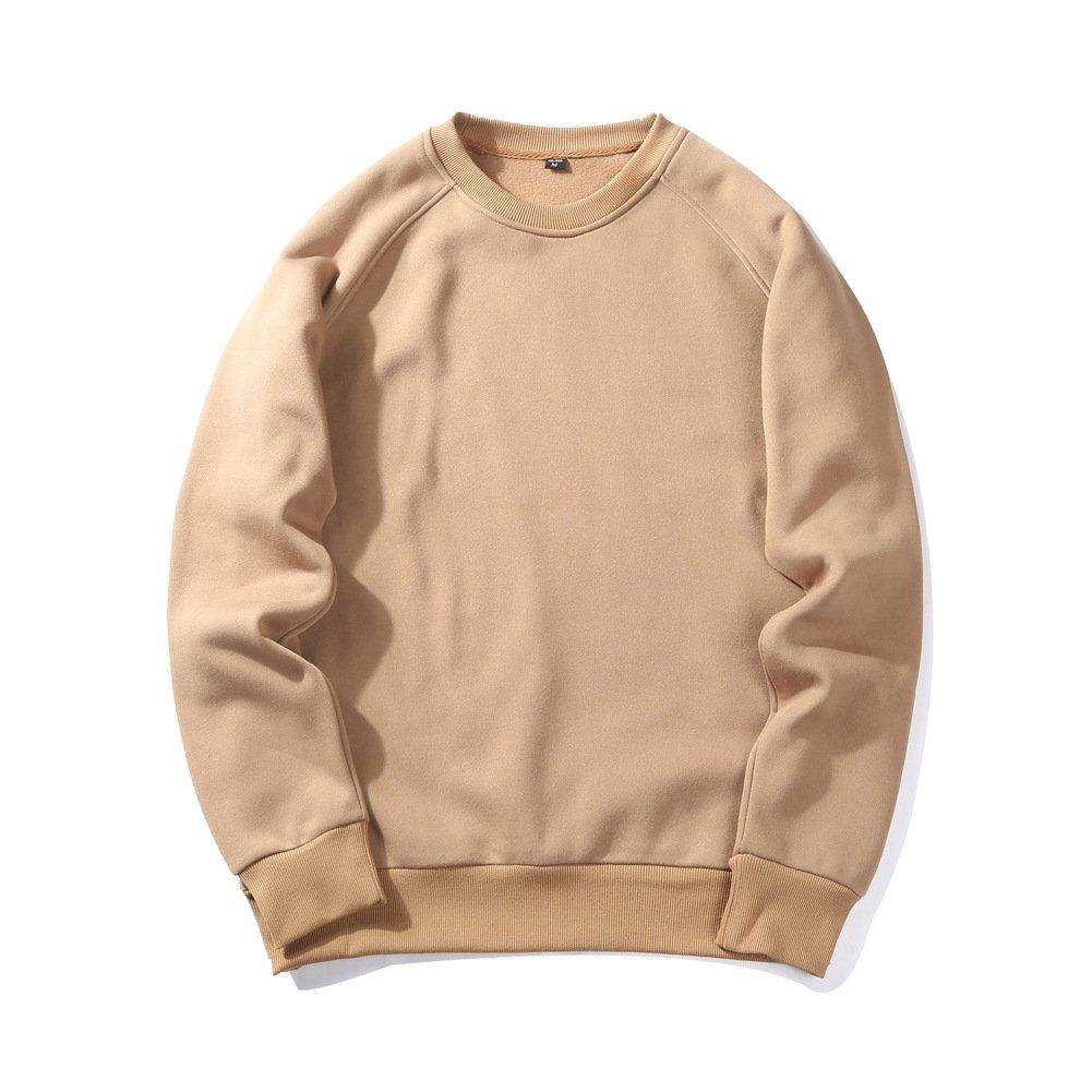 Mycherish Men Autumn Crew Neck Fleece Pullover Sweatshirt