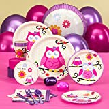 BirthdayExpress Owl Blossom Party Supplies - Baby Shower Standard Pack for 8