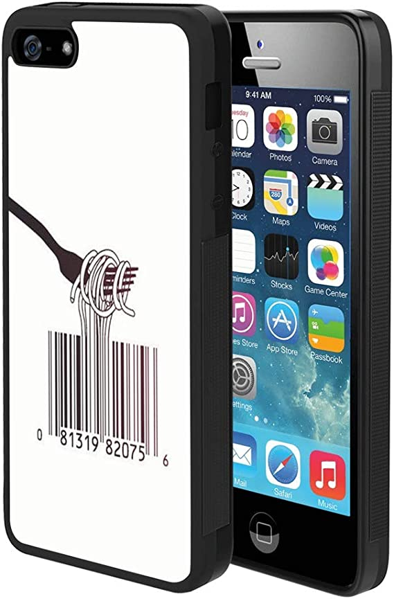 Amazon Com Pingge Iphone 5 Iphone 5s Iphone Se Case Barcode Noodle Slim Rectangle Full Body Shockproof Protective Cellphone Case Black Frame Case For Iphone 5 5s Se