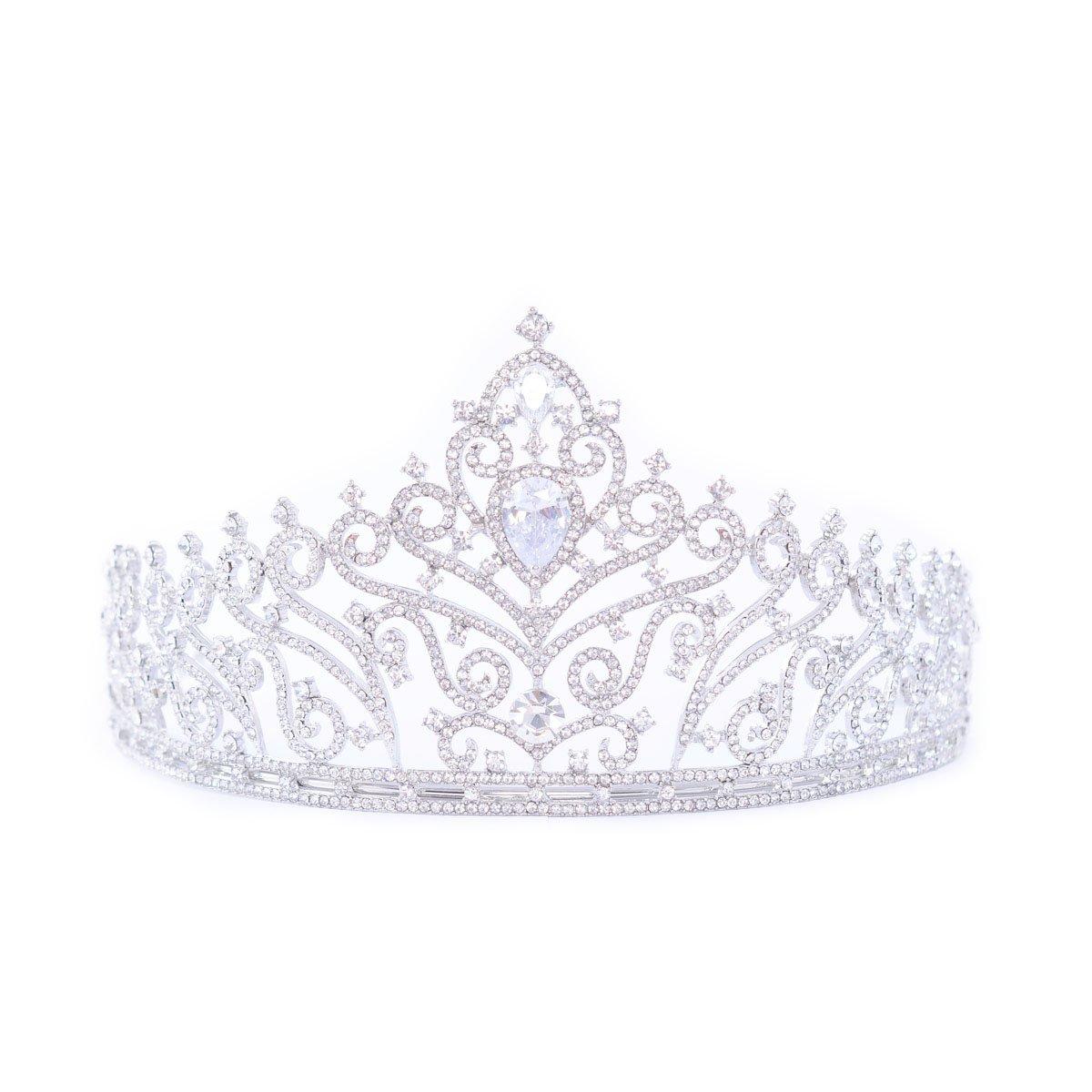 FF Rhinestone Crystal Tiara for Bride Dress-up Crown