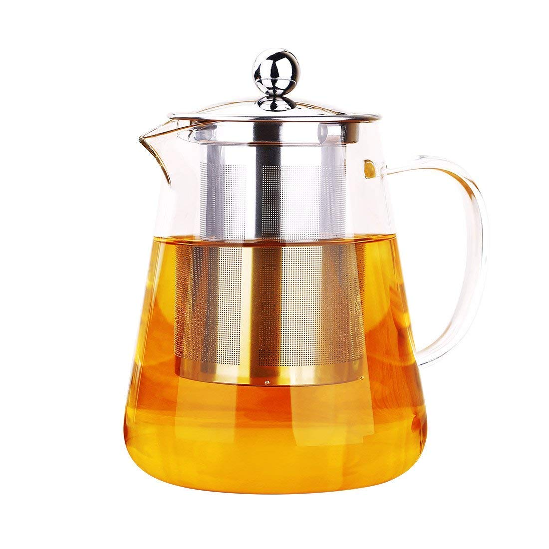 Glass Teapot 350 ml PLUIESOLEIL with Heat Resistant Stainless Steel Infuser Perfect for Tea and Coffee 300ml