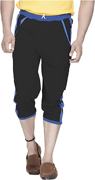 Demokrazy Men's Regular Fit Capri Men's Track Pants at amazon