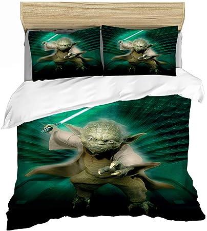 GDGM Star Wars - Juego de funda nórdica y funda de almohada (135 x 200 cm y 75 x 50 cm respectivamente, algodón reforzado), A02, 155 x 220 cm: Amazon.es: Hogar
