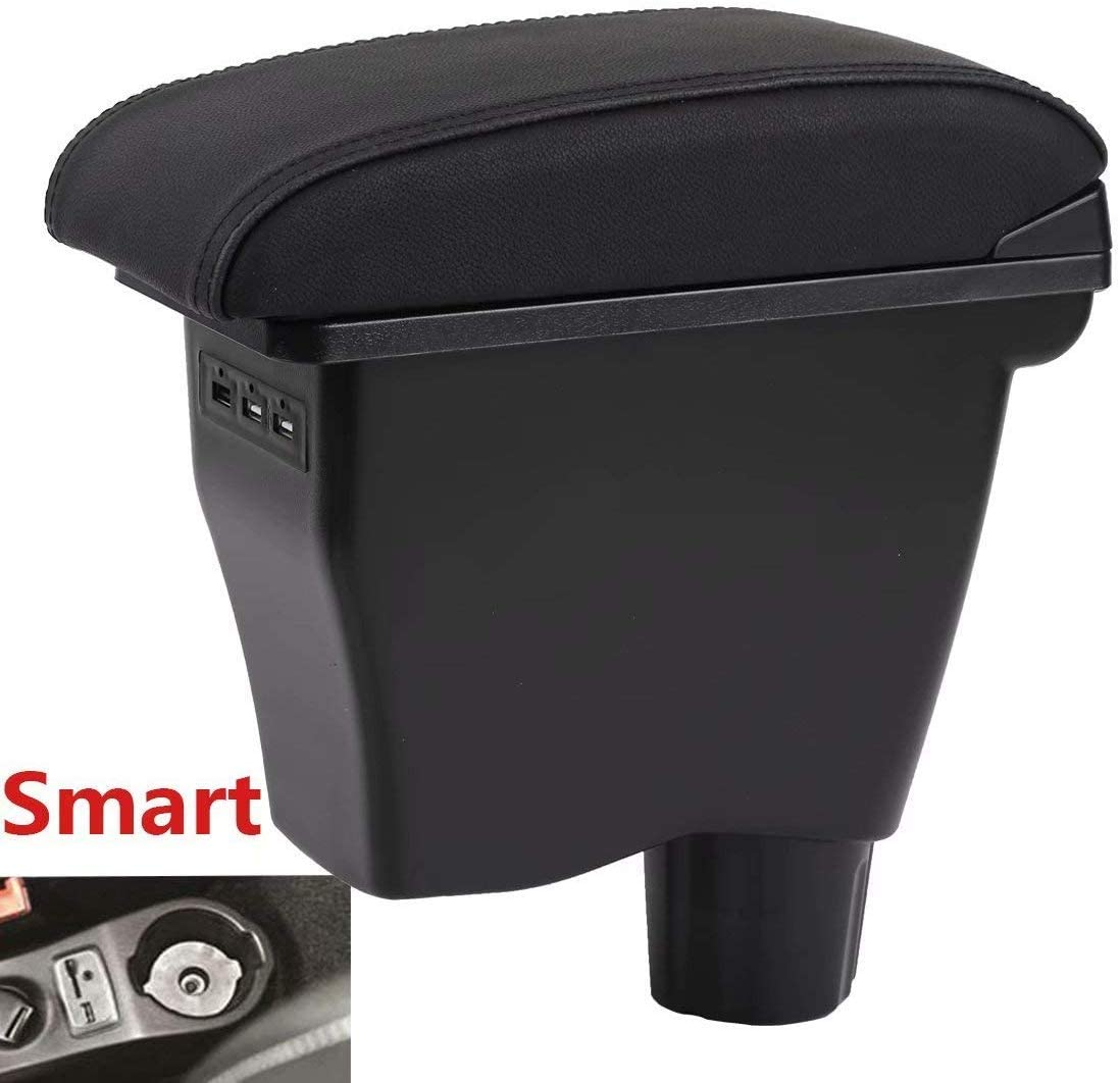 For Smart Double Layer Console Armrest Box Car Accessories