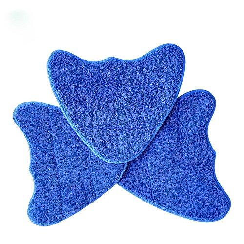 3Pcs de remplacement lavable Tampons de nettoyage pour Vax nettoyeur vapeur Mops (tels que Vrs267en 1, Vax S85-cm, Vax S35+, Vax S86-sf-cc etc.)