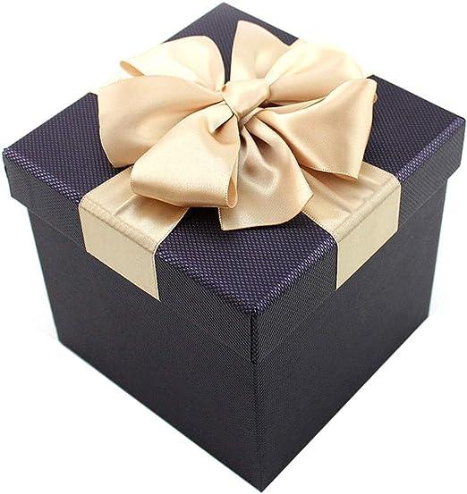 Caja de Regalo con Forma de Caja Negra Caja de Regalo con Forma de Arco Caja de Estilo empresarial Adecuada para los Mejores colegas (Tamaño : 12×12×12cm): Amazon.es: Hogar