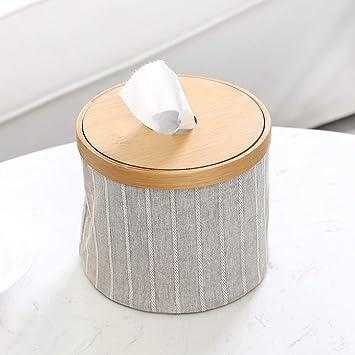 XFGHN Home Caja de pañuelos Bandeja Cuadrada Grande de plástico para Rollos Caja de Papel higiénico
