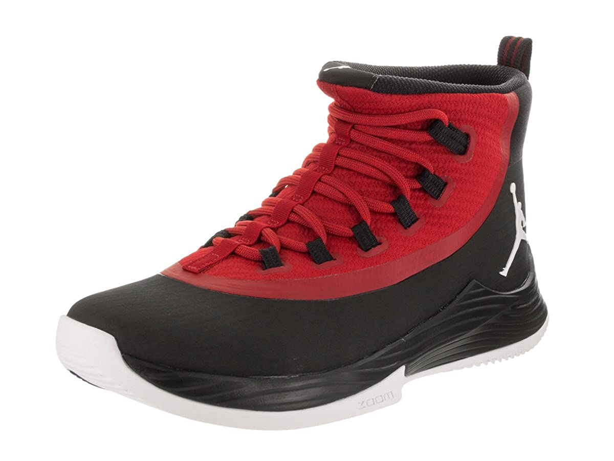 new style b120f 39fe2 Amazon.com   Jordan Nike Men s Ultra Fly 2 Black White Gym Red Basketball  Shoe 11 Men US   Basketball