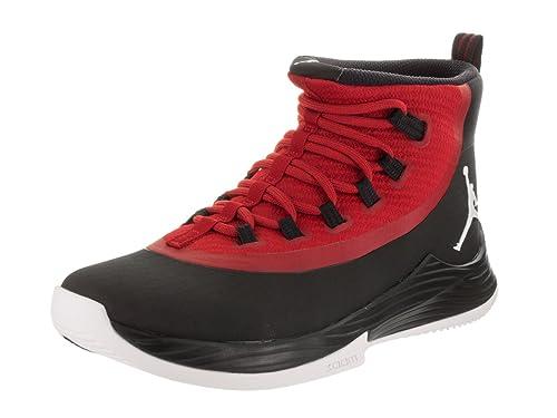 new product 419af 0e97d Jordan Nike Men's Ultra Fly 2 Black/White Gym Red Basketball Shoe 10 Men US
