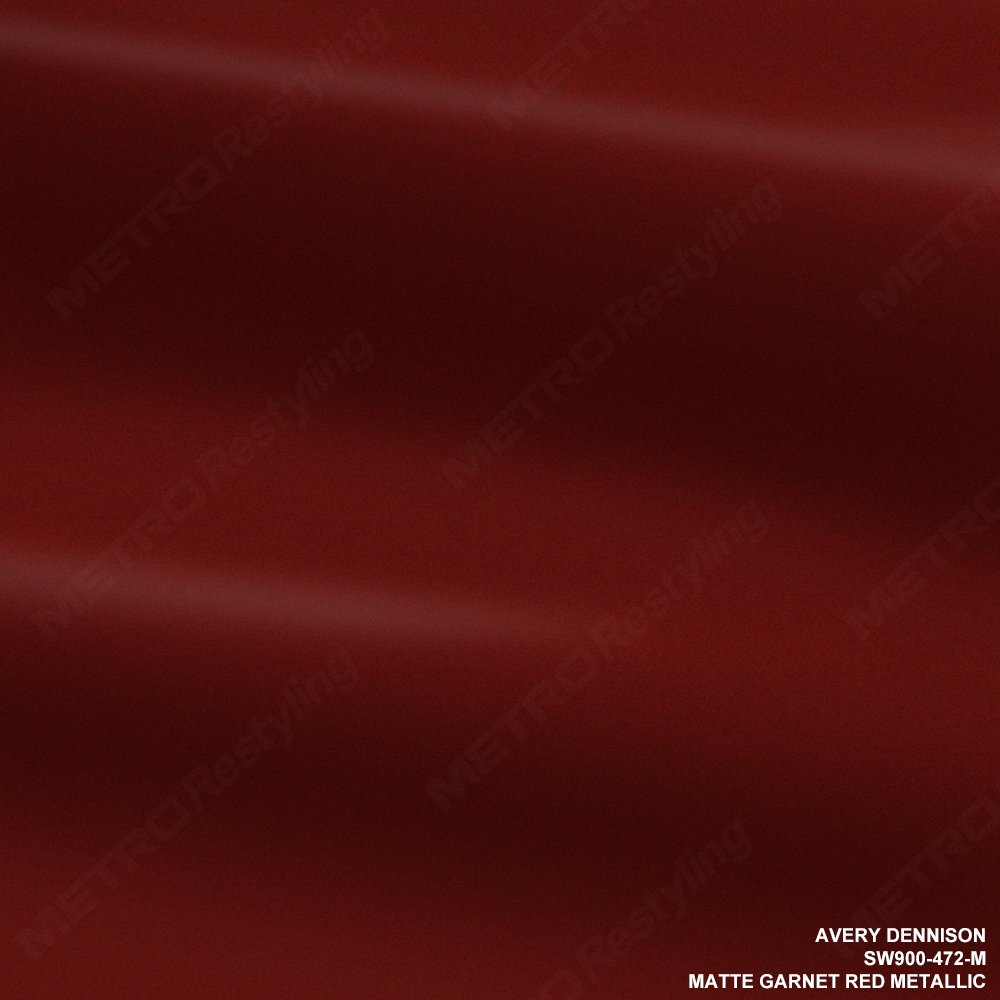 Avery SW900-472-M MATTE GARNET RED METALLIC 5ft x 75ft (375 Sq/ft) Supreme Vinyl Car Wrap Film