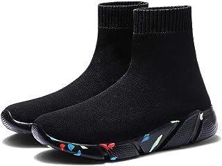 YAYADI Zapatos para Hombres Zapatillas De Deporte Zapatilla Ligera Y Transpirable Superior Alta Volando Calcetines Calzado Hombre Mujer Deportes Deporte Stretch Sneakers Flat Ejecutando