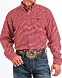 Cinch Men's Hexagon Print Western Shirt Red XX-Large