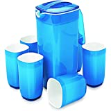 Cello Ceramica Square Appetizer Set, 7-Pieces, Blue