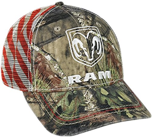- Dodge Ram Mossy Oak Country Americana Patriotic Hat / Cap