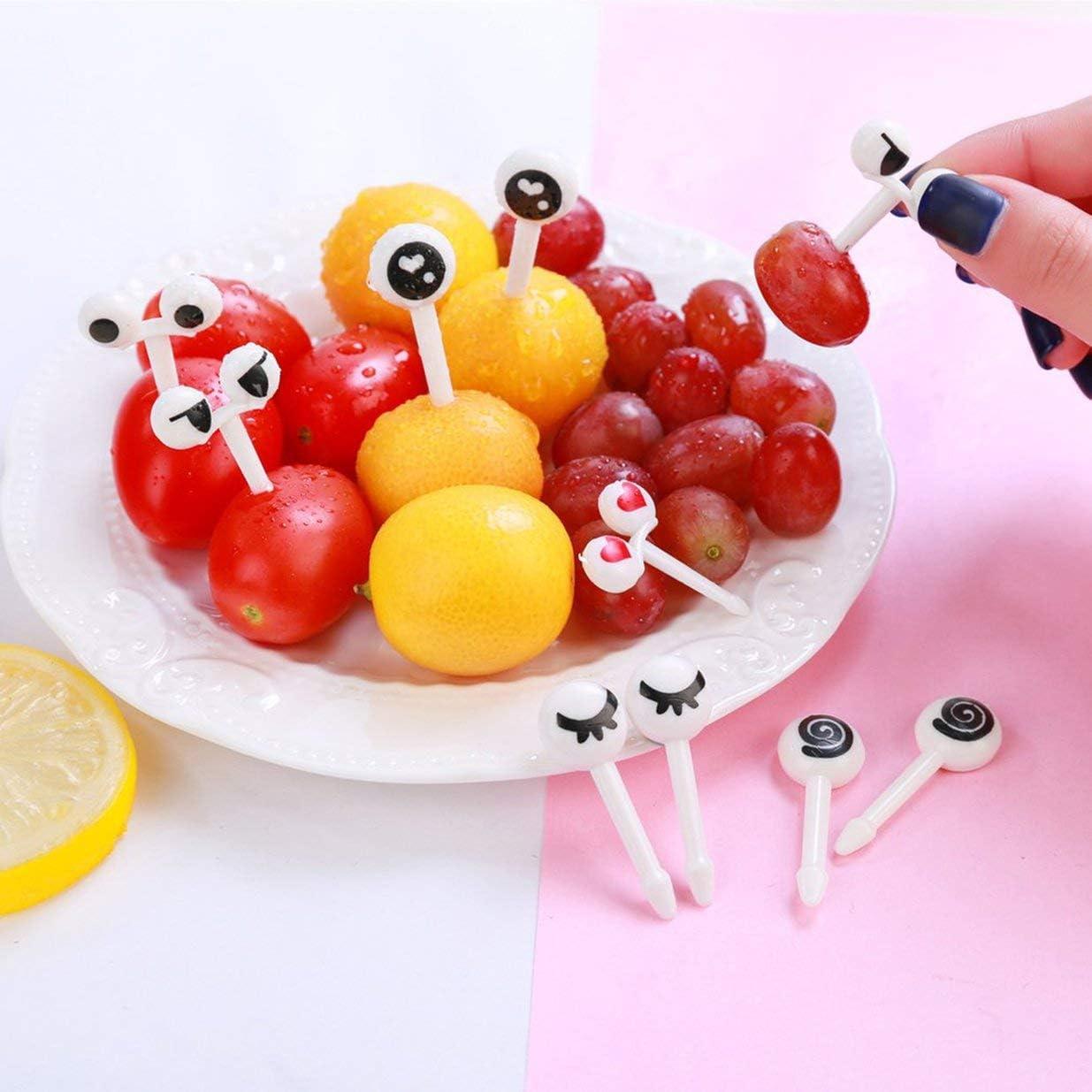 Modello per Gli Occhi Stuzzicadenti Formiche laboriose Forchette da Frutta Forchette da Insalata da tavola Stoviglie Uso Multiplo per la casa del Partito Bianco e Nero
