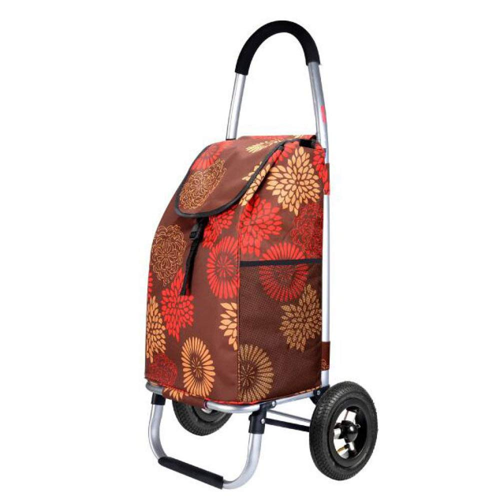 Trolley Shopping Climbing Stairs Folding Portable Inflatable Wheels, C
