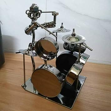 Metal Art Nuts and Bolts  Decor Sculpture Rock Band Drummer