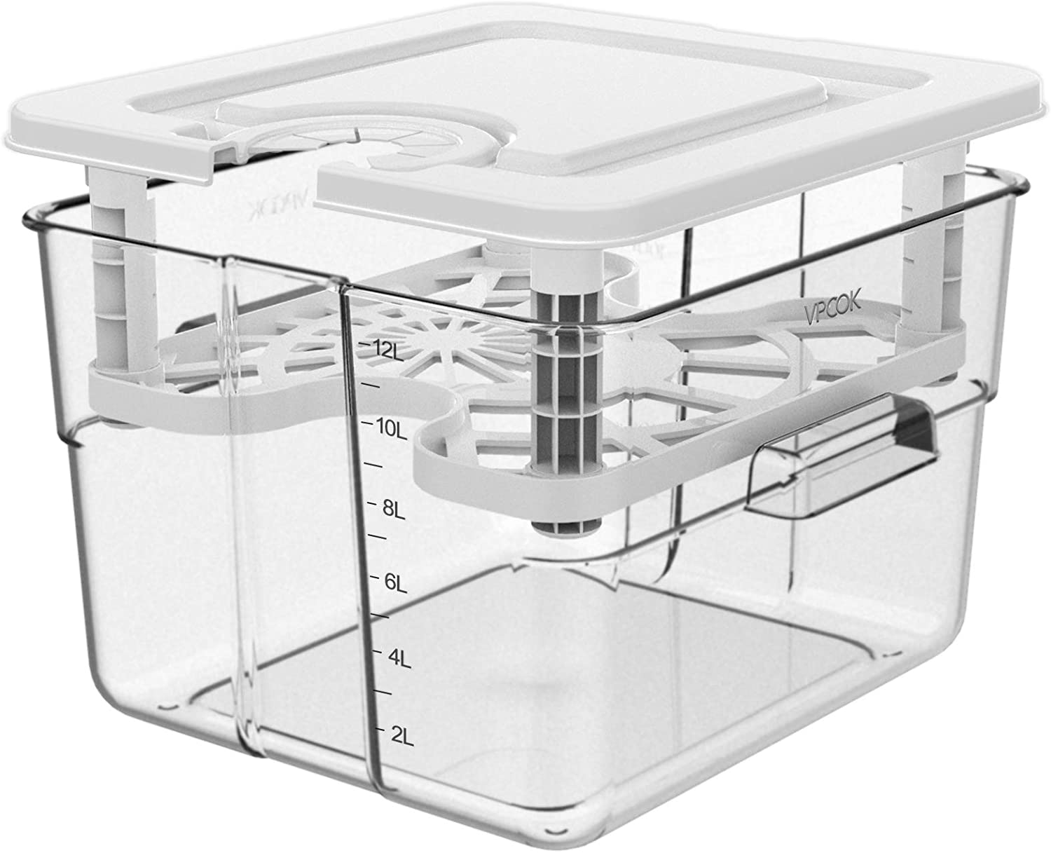 Sous Vide Container for Anova Culinary Anova Nano Joule Instant Pot, 12.6 Qt Sous Vide Containers with Lid and Rack Sous Vide Pot Large Kitchen Food Storage Container