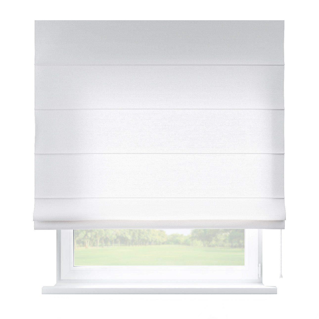 Dekoria Raffrollo Capri ohne Bohren Blickdicht Faltvorhang Raffgardine Wohnzimmer Schlafzimmer Kinderzimmer 100 × 170 cm weiß Raffrollos auf Maß maßanfertigung möglich