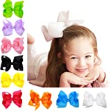 "Baby Girl Grosgrain Ribbon 6"" Large Boutique Hair Bows Pack Of 16"