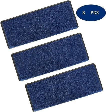 QLING Alfombrillas para Peldaños Antideslizante 3 Pcs Escalera Moquetas, Alfombra De La Escalera Escalera Moquetas, Durable Alfombrillas para Peldaños Silicona Mismo-pegando-Azul 31x9inch: Amazon.es: Hogar